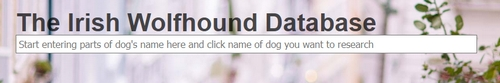 The Irish Wolfhound Database